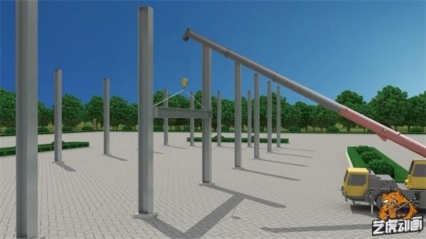 建筑施工动画制作