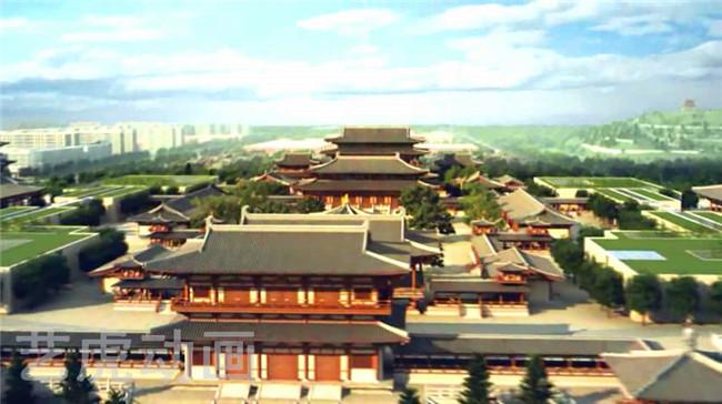 唐山龙泉寺古建筑动画制作 (5)