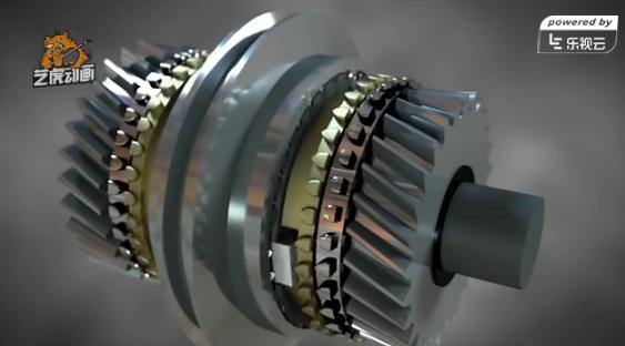 机械齿轮三维动画