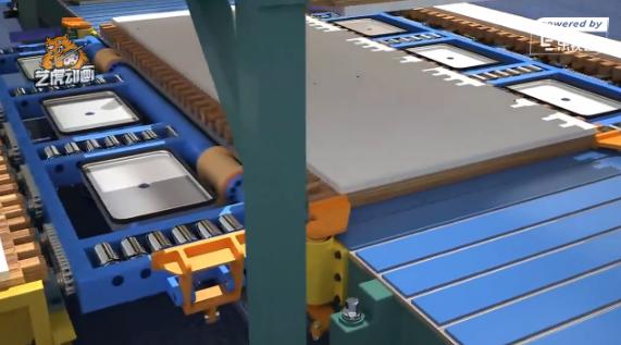 工厂智能生产流水线三维动画