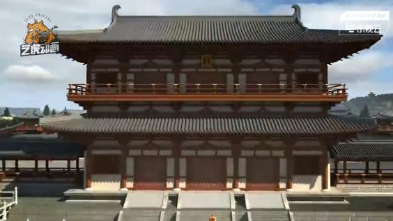唐山龙泉寺建筑三维动画