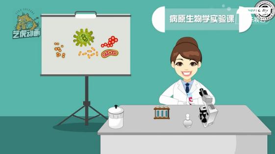 医学院病原实验中心课件动画