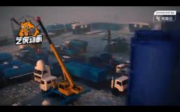 石油钻井矿业工程三维动画