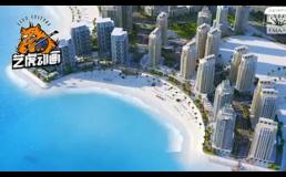 城市规划三维建筑动画