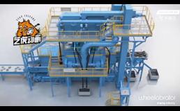 三维喷砂机工艺流程动画视频