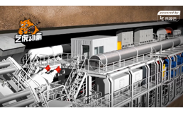 城市建设地铁隧道工程动画