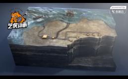 海底开采三维施工动画视频