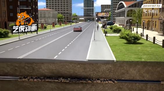 市政道路管线施工动画视频