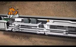 地铁隧道三维动画视频