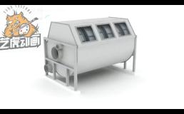 工业级别滤水器三维动画演示