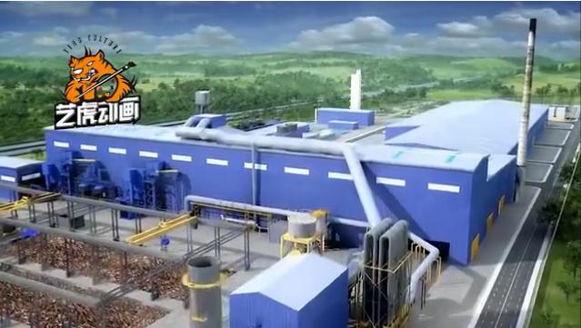 工业生产线工艺流程三维动画