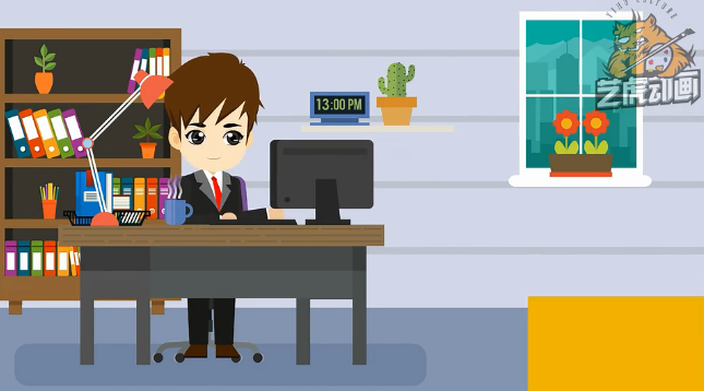 银行业务宣传广告二维动画