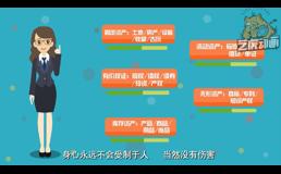 资产融通扁平广告动画视频