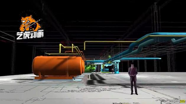 底层建筑结构-3D建筑演示动画