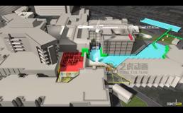物流建筑工程-三维施工动画